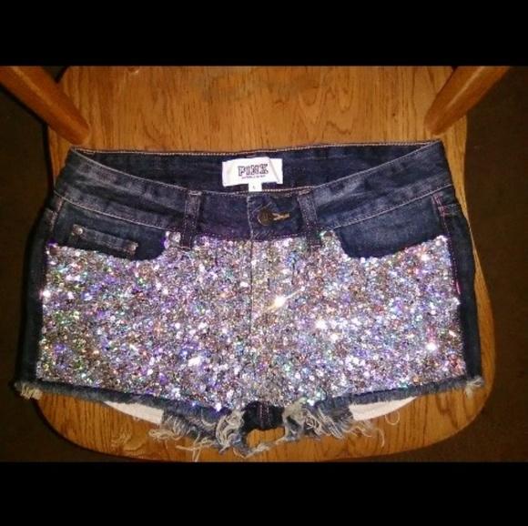 PINK Victoria's Secret Pants - Victoria's secret Pink sequin denim shorts